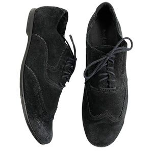 Bed Stu Black Suede Loafers Lace Up Oxfords, 9.5